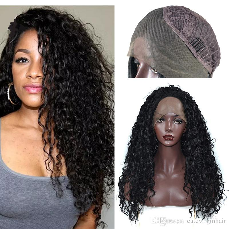Kinky Curly Synthetic Lace Front Wigs For Black Women Best Quality Flame  Retardant Heat Resistant Fiber Lace Wigs Natural Color 14 26 Inch Wigs  Online ... b8fa5ba19c