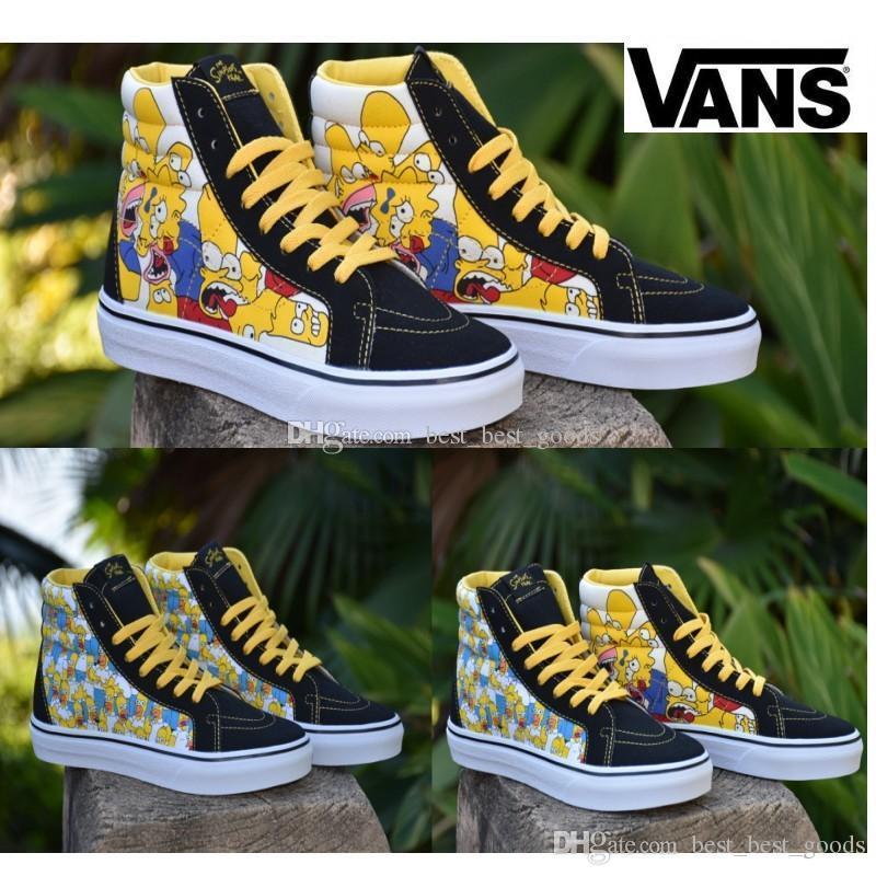 Simpson Sports Chaussures Bande Skate Shoe Vans Designer Dessinée wOPkXn80
