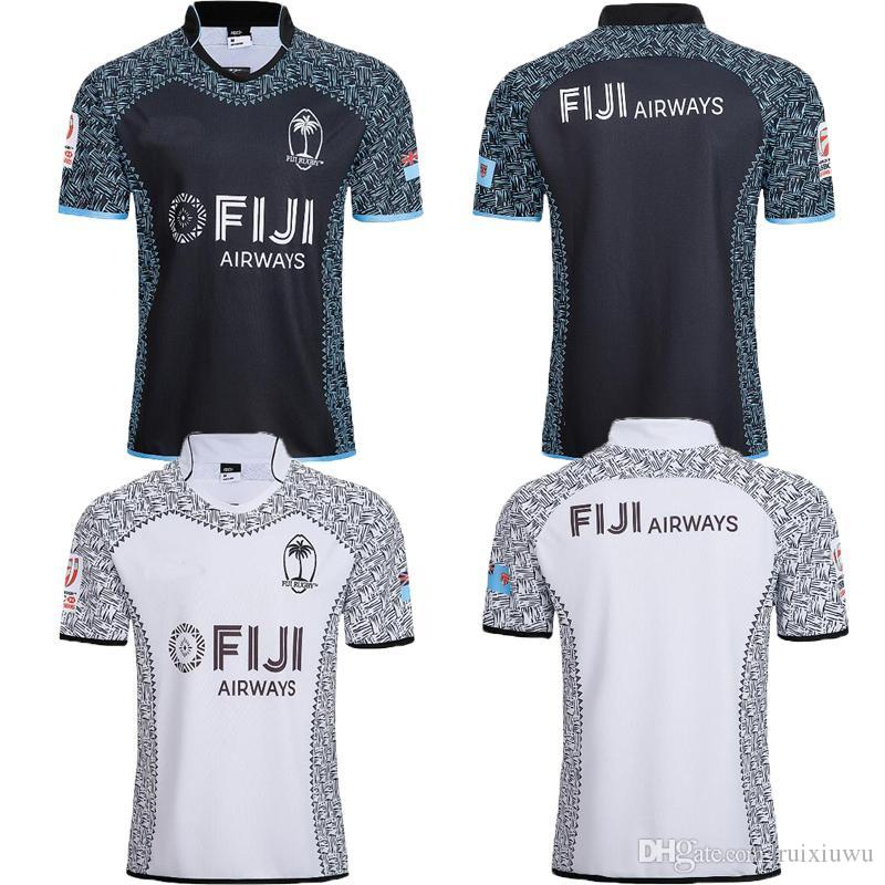 5f121c92e 2019 NEW 2018 2019 World Cup Fiji Home White Away Black Rugby Jersey Sevens  Olympic Shirt 18 19 NRL National 7 S Rugby Jersey Size S 3XL From Ruixiuwu