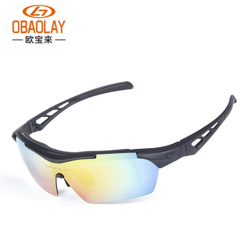 b318b7ccfec 2019 OBAOLAY Outdoor Fishing Glasses Mountain Bike Goggles Bicycle Sport  Sunglasses Big Frame MTB Cycling Motorcycle Eyewear From Peachguo