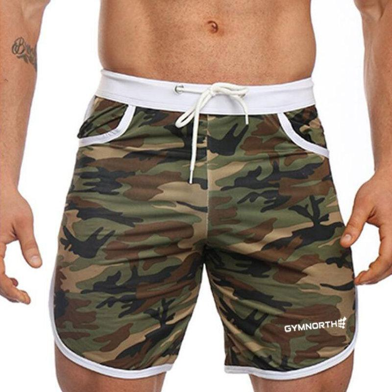 97b12651f0a2 2019 Summer Men Camouflage Shorts Male Slim Short Pant Gyms Fitness  Bodybuilding Jogger Casual Fashion Brand Beach Workout Sweatpants C19041303  From ...