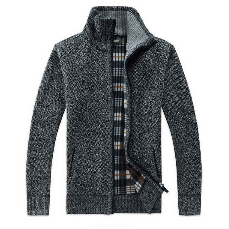 2019 herbst winter herren pullover mantel kunstpelz wolle pullover jacken männer reißverschluss gestrickt dicken mantel lässige strickwaren m 3xl