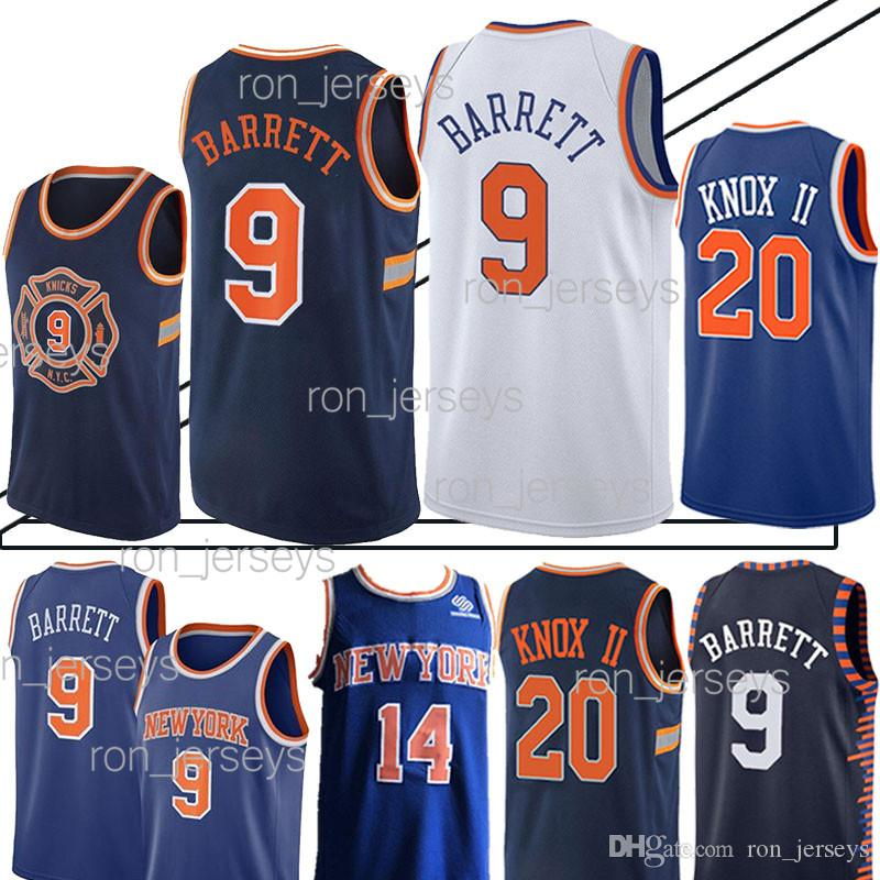 huge selection of 2728e 9eadb 9 RJ Barrett promotion New York 20 Kevin Knox Jersey Knicks Jerseys Top  quality t shirt Cheap sales