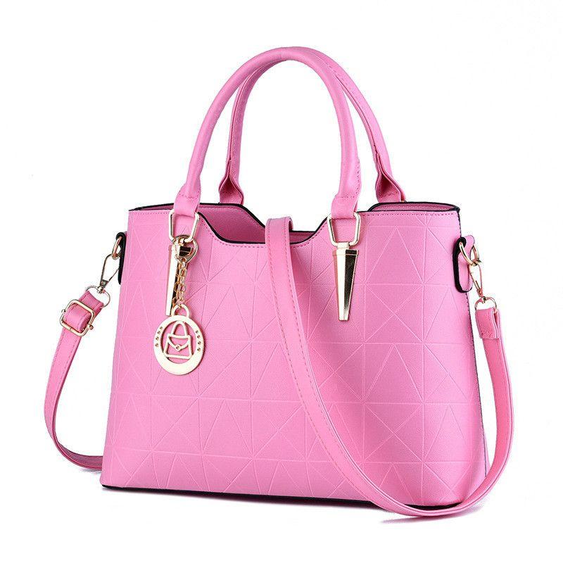 4706808f086e 2019 Luxury Designer Handbags New Bag Female Sweet Lady Temperament Fashion  Handbags Slung Shoulder Bags For Women Outdoor Handbag Pink Duffle Bags  Clutch ...