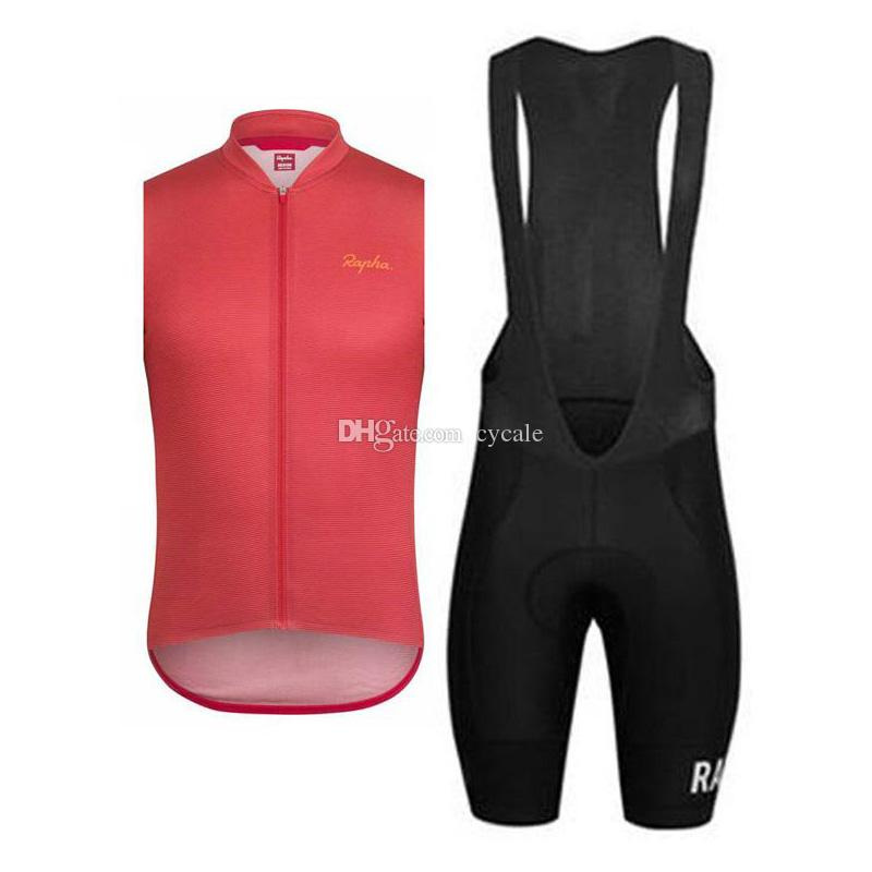 RAPHA team Cycling sleeveless jersey (bib) shorts sets 2019 Hot Sale Breathable racing wear MTB bike ropa ciclismo new