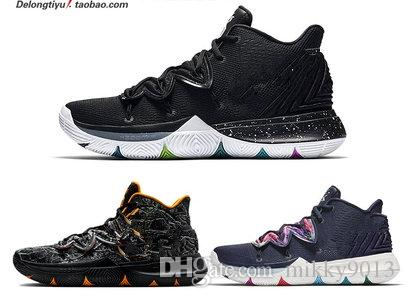 318aaff31bee 2019 New KYRIE 5 EP Man Combat Cushion Cushion Shock Basketball Shoe Venom  Black And White Star Sport Sneakers With Box Army Boots Peep Toe Booties  From ...