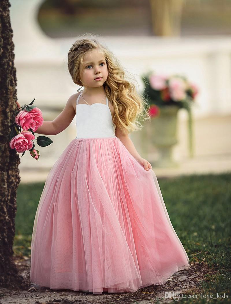 INS New style vest tutu skirt baby pink sleeveless skirt princess baby girl dresses party 3-8T