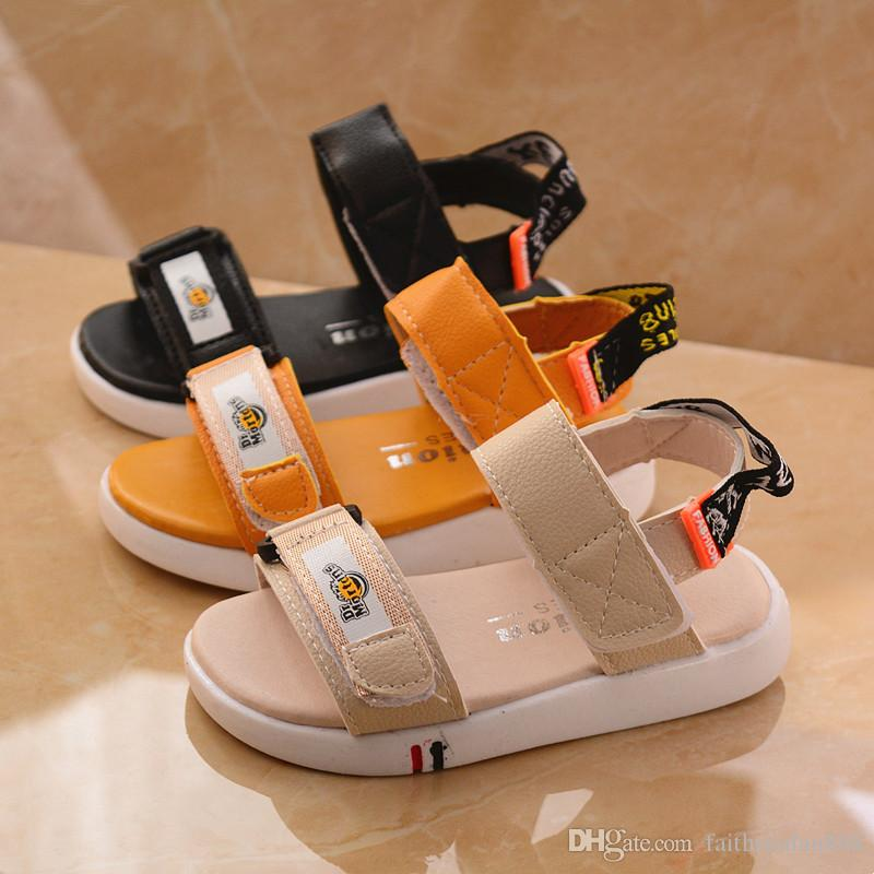 1ceff1ad2cd3 2019 New Style Summer Children Kids Beach Sandals Shoes For Boys Girls  Sport Casual Toddler Baby Shoes Sandals PU Soft Sole Dress Shoes For Toddler  Boys Buy ...