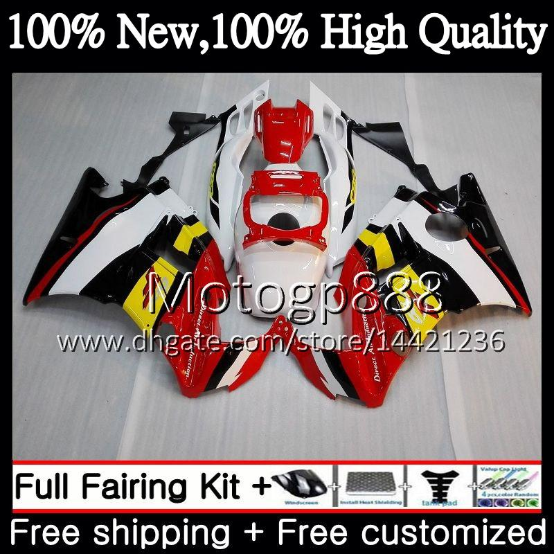 Honda CBR 600F2 FS 빨간색 흰색 CBR600 F2 91 92 93 94 AAPG22 CBR600FS CBR 600 F2 CBR600F2 1991 1992 1993 1994 뜨거운 공정 차체