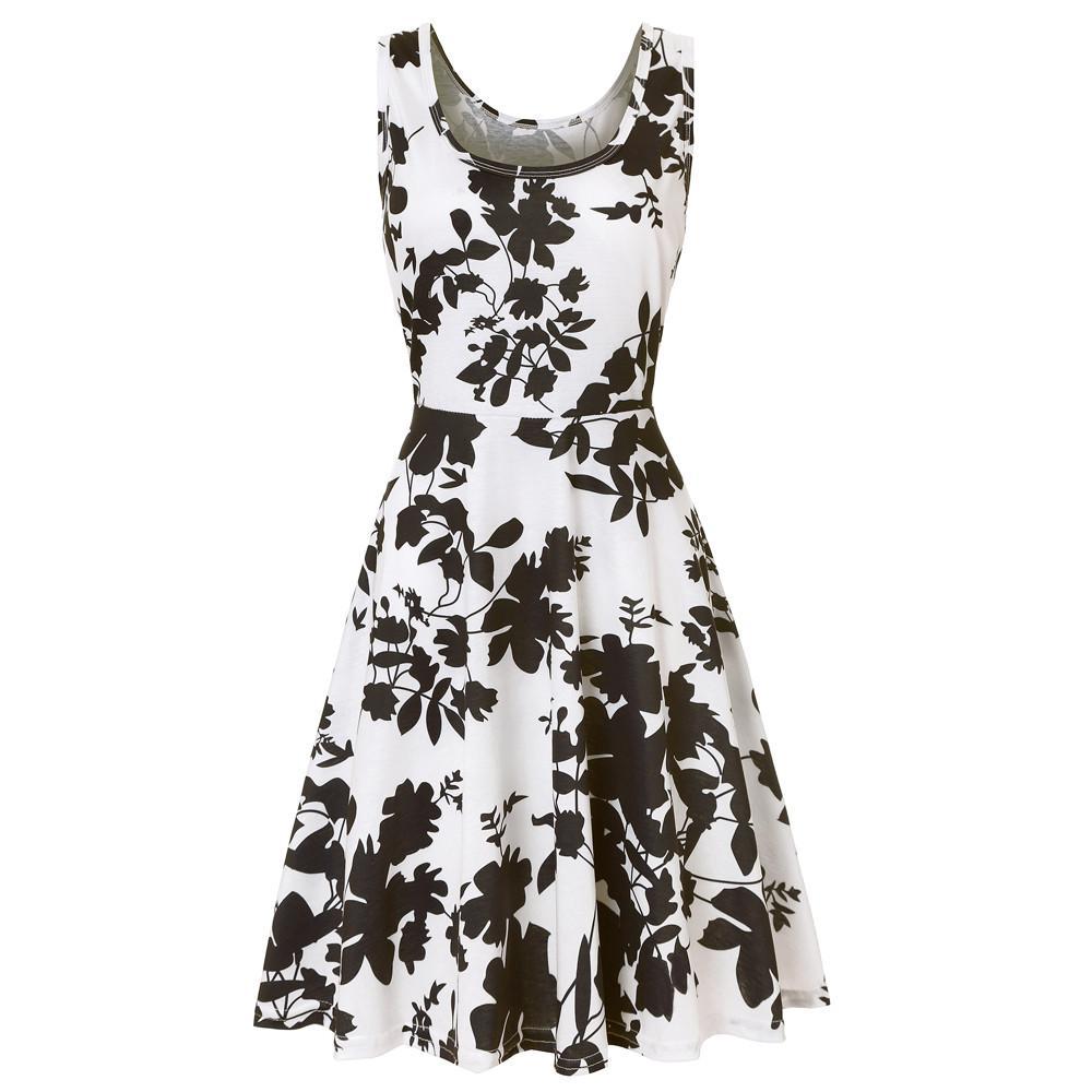 Women Summer dress Vintage Boho Floral Sexy Dresses 2019 Fashion Evening Party Beach Dress Floral Sundress Women Clothing