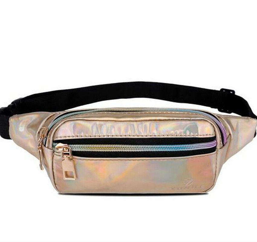 b7550aa3d323 2019 New Style Girls Fashion Laser Waist Fanny Pack Belt Bag Women ...