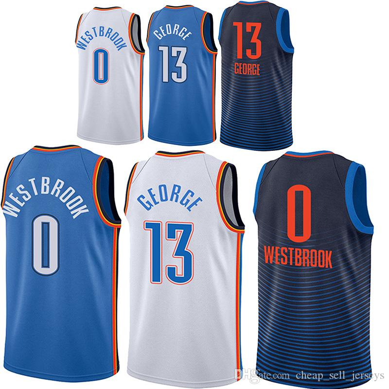 edffb2fceb5 2019 Men Paul 13 George Jerseys Russell 0Westbrook Basketball Jersey Men  Fans Clothes Printed 2018 2019new From Cheap_sell_jerseys, $19.77 |  DHgate.Com