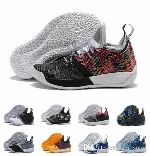 High Quality James Harden Vol.2 Basketball Shoes For Men Fashion Black  White Red Green Orange Blue Grey Brown Wine Sports Sneakers Basketballs  Shoes Mens ... 3838a7f1d