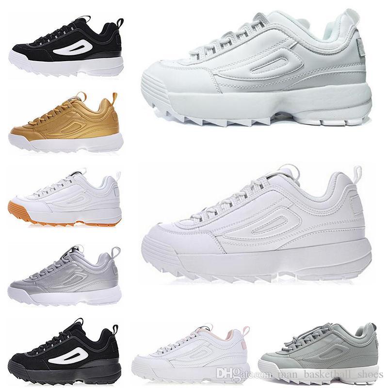11d6985ac389 FILA disruptor 2 II 2019 II FILE Aumento de zapatos para correr para hombre  Moda de mujer Negro Blanco Rosa gris dorado Zapatillas de deporte ...
