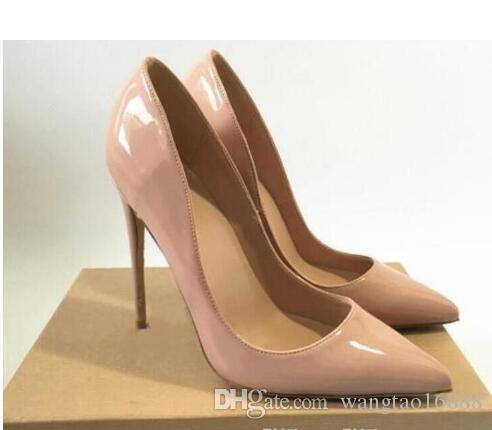 New Wine Red Stone Leather High Heeled Women'S 10cm 12cm 8cm Stiletto Heel Pumps Spiked Dress Shoes Large Size 45 Wedding Shoes Bride Shoes Flat Shoes