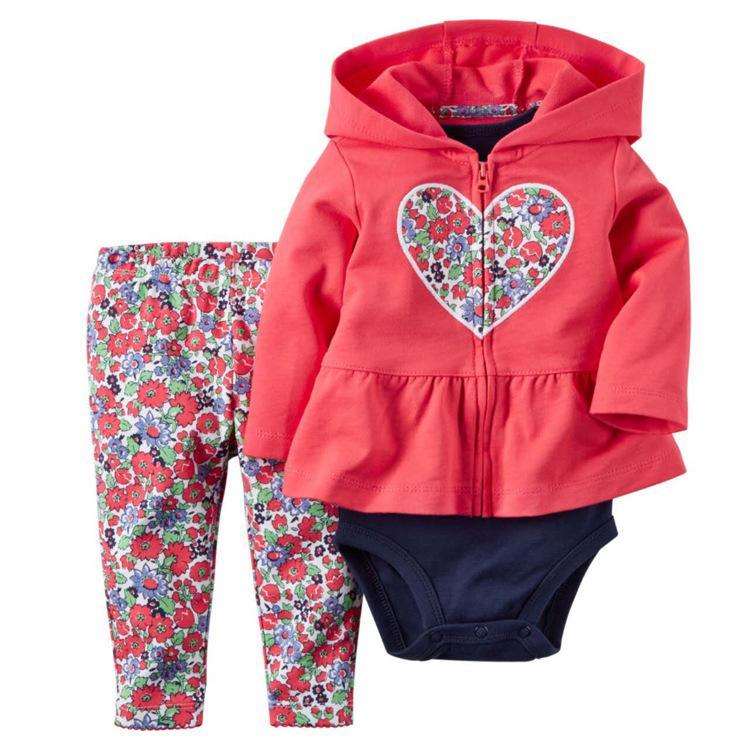 faf2c97ba0dd 2019 Set Baby Boy Girl Clothes Hoodie Zipper Long Sleeves Coat + ...