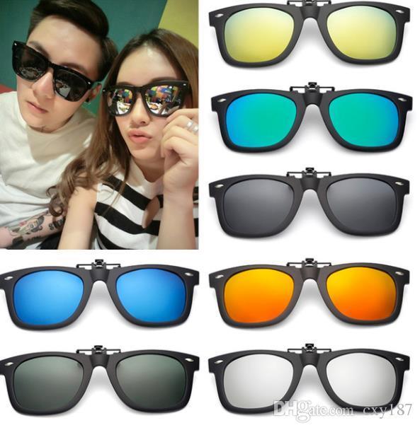 383ef9ec73 Brand Designer Vintage Polarized Sunglasses Clip On Sun Glasses For ...