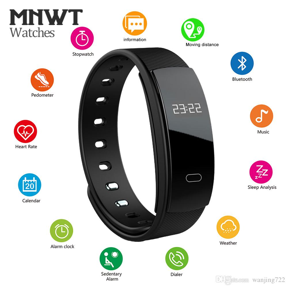 Watches 2017 Smart Wristband For Ios Android Heart Rate Sport Monitor Watches Men Women Pedometer Usb Charging Soft Silicone Strap Perfect In Workmanship Men's Watches