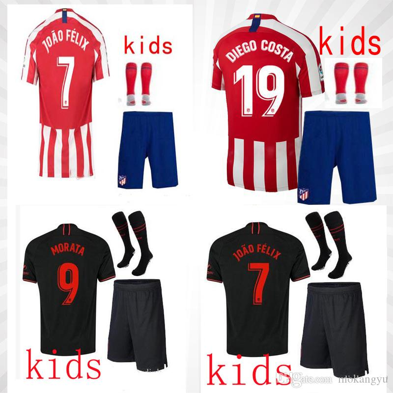 In 2020, atletico Madrid football club kit children suit and socks. The name of the star can be customized