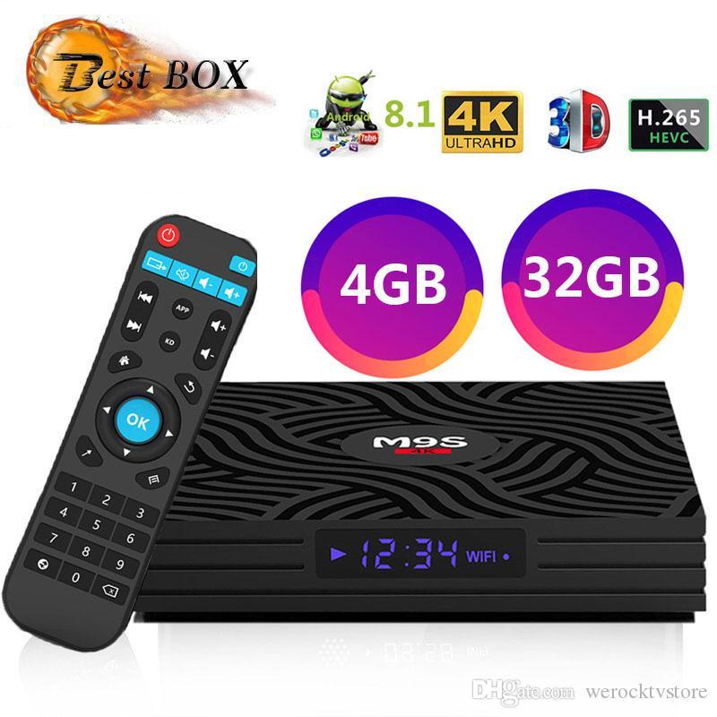 2019 M9S Y1 4GB 32GB RK3328 Quad-Core Android 8 1 4K IPTV TV BOX 2 4G WIFI  USB 3 0 Media Player Better A5X MAX HK1 Max T95X H96 Max Pro Plus