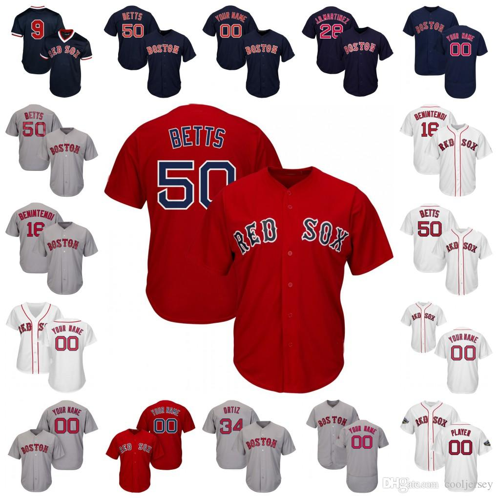 separation shoes ce41d bbaad Red Sox Jersey Mookie Betts Boston J.D. Martinez Holt Eovaldi Chris Sale  Bogaerts Andrew Benintendi Price Ortiz Williams Men Women Youth