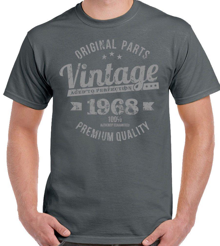 Vintage Year 1968 Premium Quality Mens 50th Birthday T Shirt For A