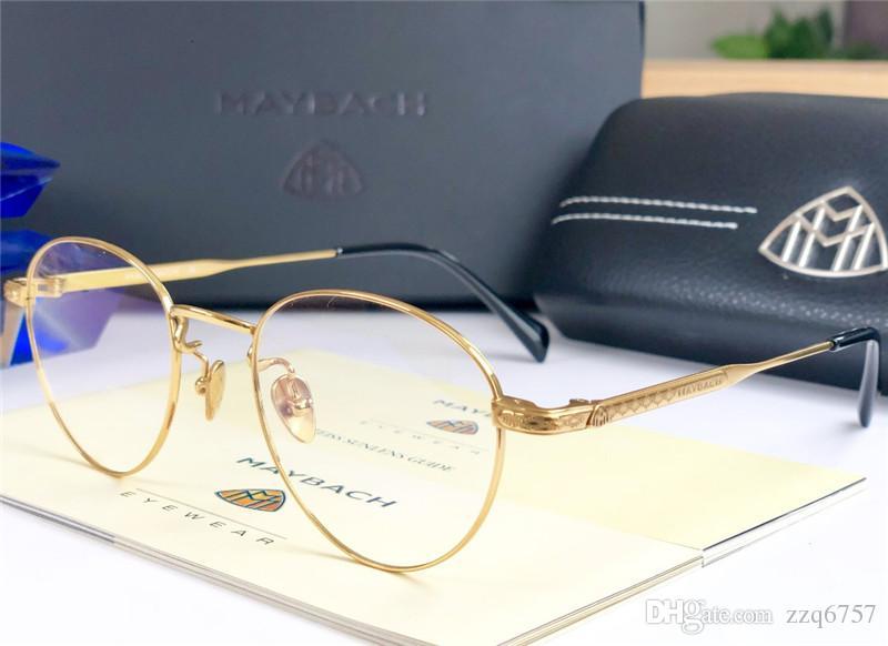 69ea3b13381 2018 new fashion designer optical glasses MAYBACH retro round titanium  frame vintage fashion style clear lens transparent eyewear