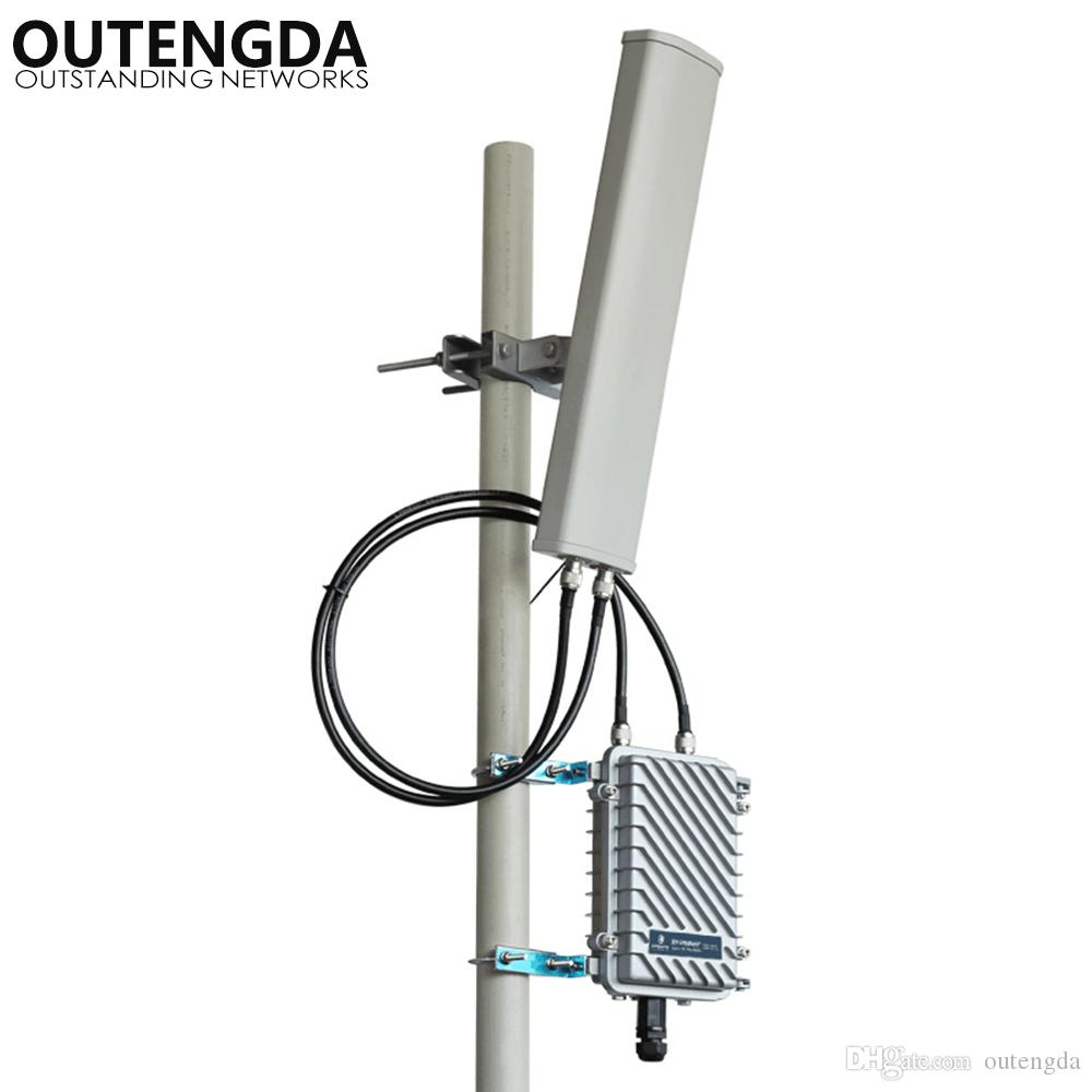 Long Range 400meters outdoor wifi access point Extender 2 4GHz 300Mbs  Wireless Router Outdoor AP WiFi Hotspot Base Station with 14dbi ANT