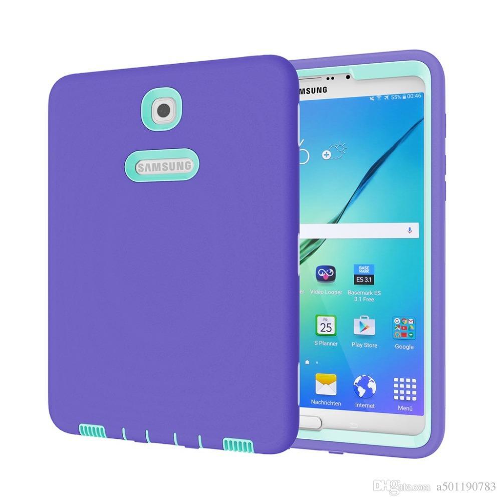 006b684fe9a Compre Carcasa Rígida De Armadura Híbrida TPU Para PC Dura Para Samsung  GALAXY Tab S2 8.0 T710 T715 Tableta Funda Funda Funda Coque + Stylus Pen +  Film.