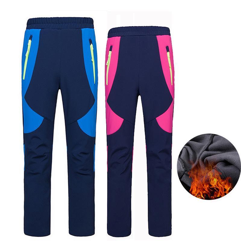 42dd62da49 Outdoor Winter Children Softshell Fleece Boys Girls Pants Waterproof ...