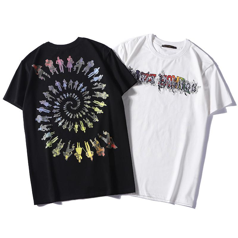 a8f584985 Compre Designer De Camisas Das Mulheres Dos Homens De Preto Branco Criativo  Hip Hop L Camisas Polo Top Básica Ocasional T Shirt De Manga Curta De  Aleobonway ...