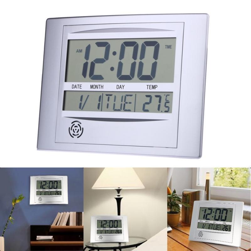 3f8172a31818 Compre Pantalla LCD Con Termómetro Medidor De Temperatura Electrónico  Calendario Escritorio Interior Reloj De Pared Digital Decoración Del Hogar  A  46.73 ...