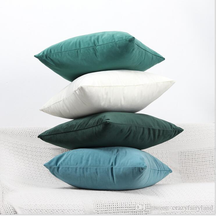 138d0f1ae2b1 Velvet Pillowcase Candy Color Throw Pillow Case For Sofa 45 45cm Solid Home  Decorative Pillowcase Car Seat Cushion Cover 40 Styles Gifts Handmade Pillow  ...