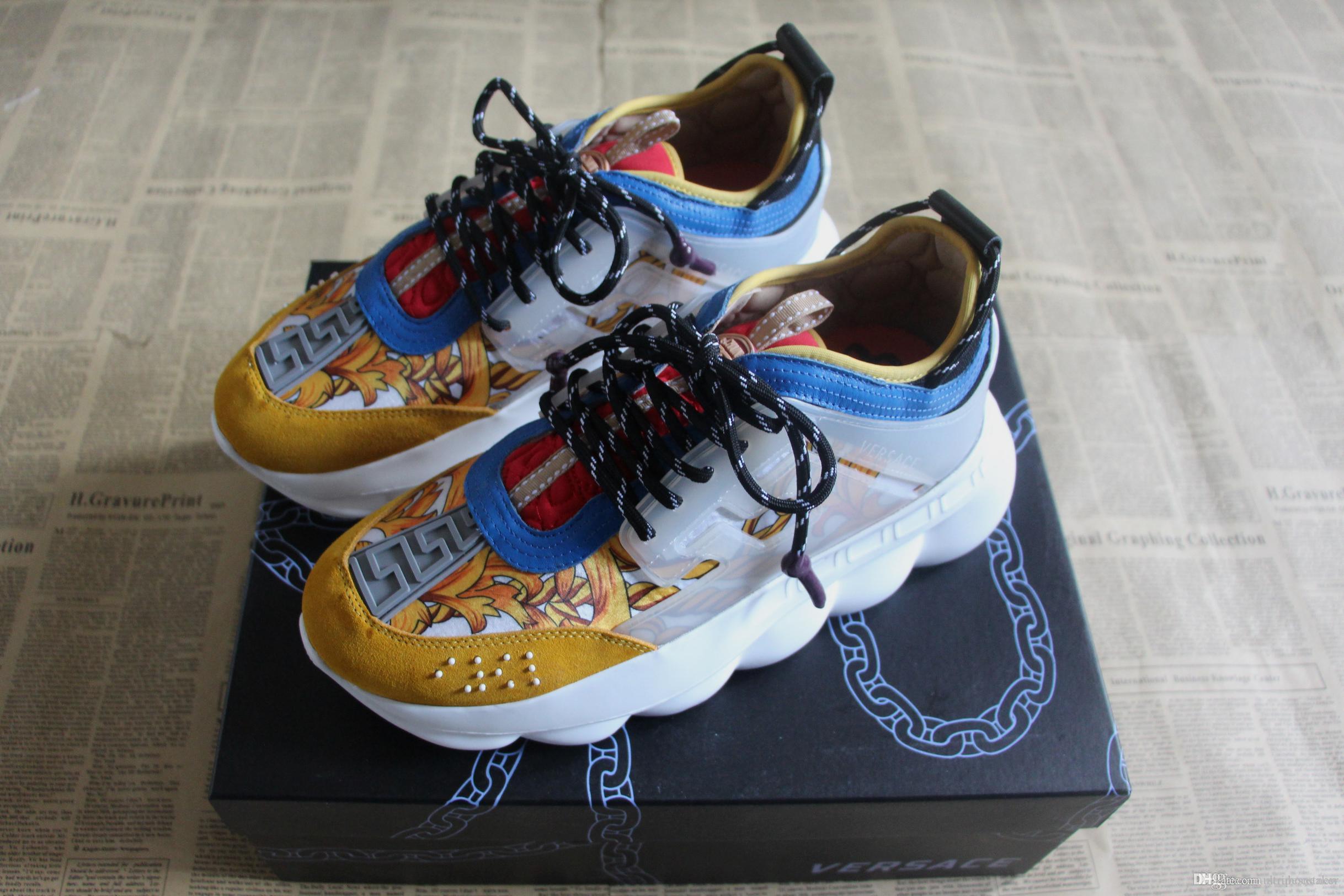 b6ec7fa4fc Nueva Moda CHAIN REACTION Zapatillas Para Hombre Mujer Cuero Real es De  Calidad Superior Exclusivos Zapatos De Diseño Italiano En Venta Bi Por ...