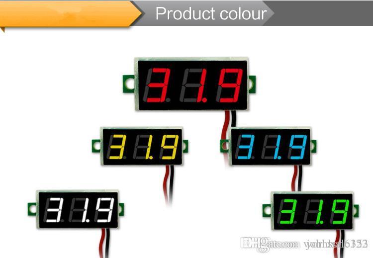 0 28 Inch DIY Red Blue Green Yellow Digital LED Mini Display Module  DC2 5V-30V Voltmeter Voltage Tester Panel Meter Gauge for Motorcycle Car