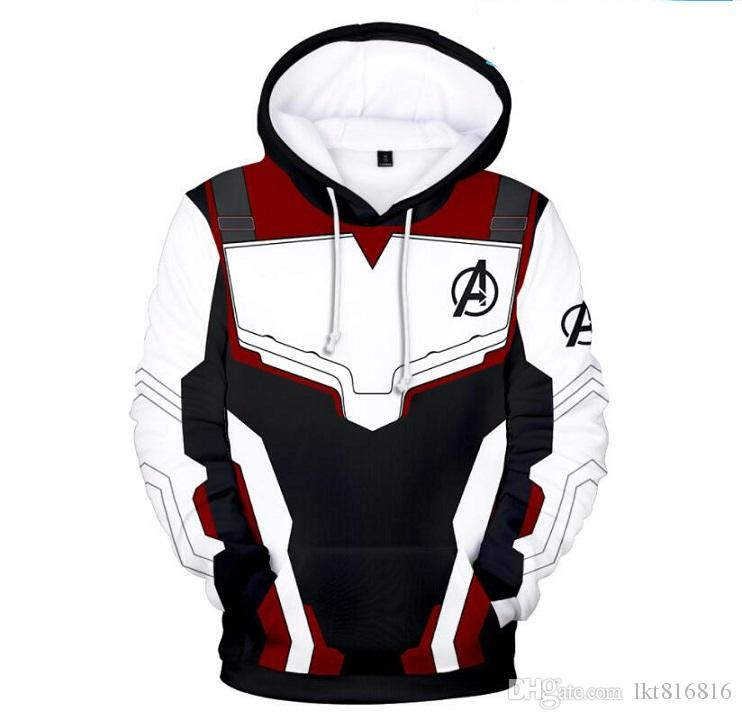 Spring Animated Cartoon Hoodies The Avengers 4 War clothes 3D digital Double sided print Hoodie Thin material Loose type Sportswear sweater