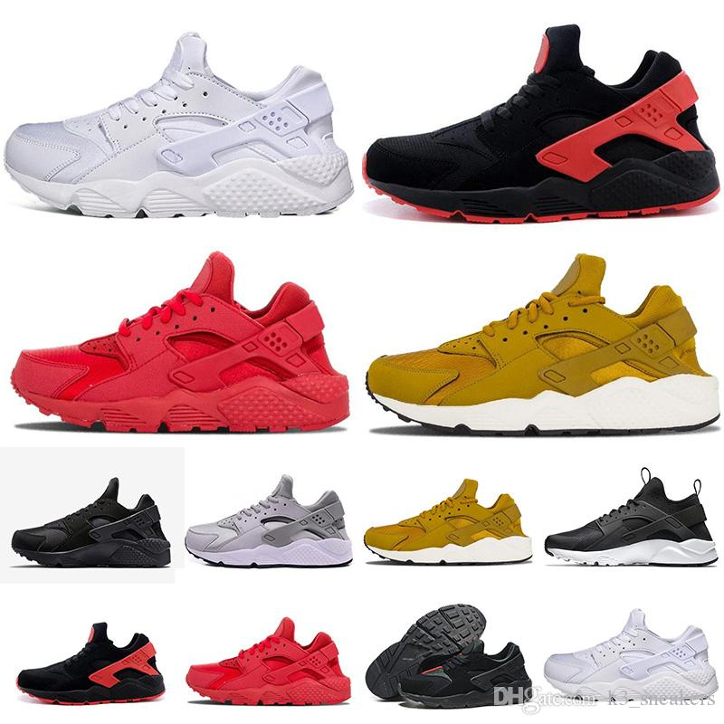 cc5c3c6c1302 Triple White Black Huarache 1.0 Running Shoes Classical Red Rose Gold Men  Women Huarache Shoes Huaraches Trainer Sports Sneakers 36 45 Barefoot  Running ...