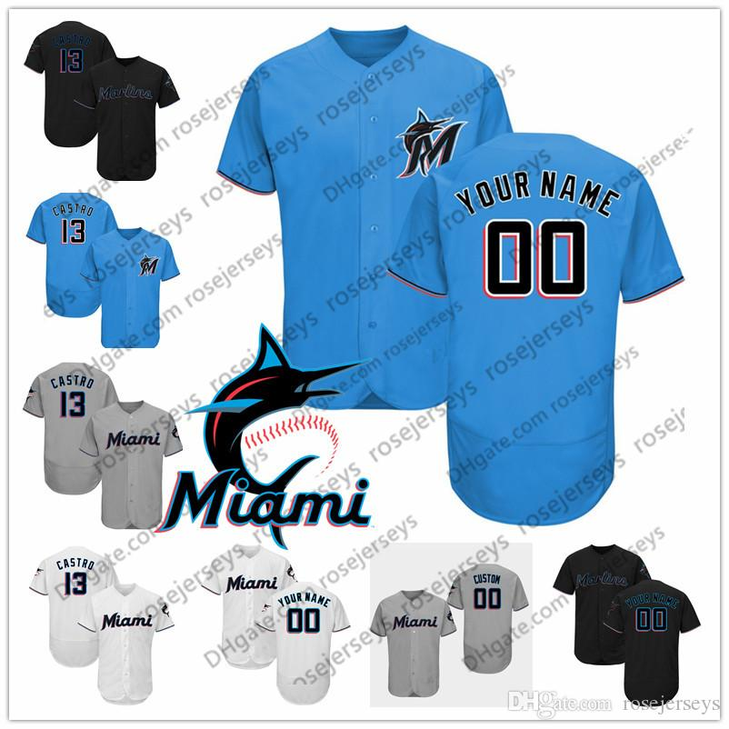 quality design 11cbc 14cc1 2019 Marlins Jerseys Miami #16 Jose Fernandez 2 Derek Jeter 32 Victor  Victor Mesa 20 Wei-Yin Chen 54 Sergio Romo Men Women Youth