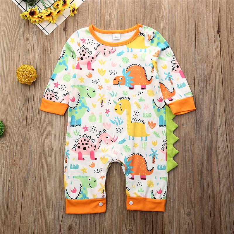Babyspielanzug Weihnachtsweihnachtsbaby beiläufige gedruckte Kleidung Kleid Kinderkostüm 0-24 Monate lange Ärmel