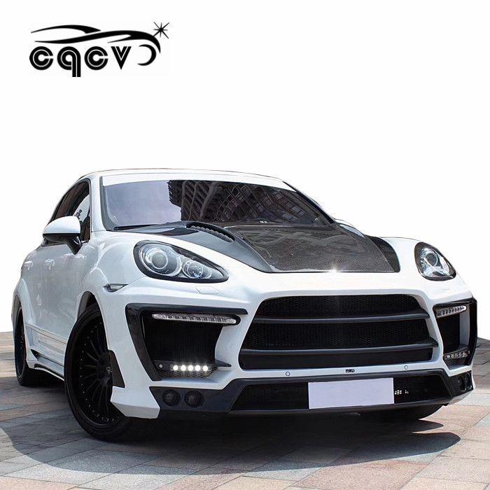 011-2014 for Porsche cayenne 958 LM style wide body kit perfect fitment  carbon fiber hood front bumper rear bumper spoiler