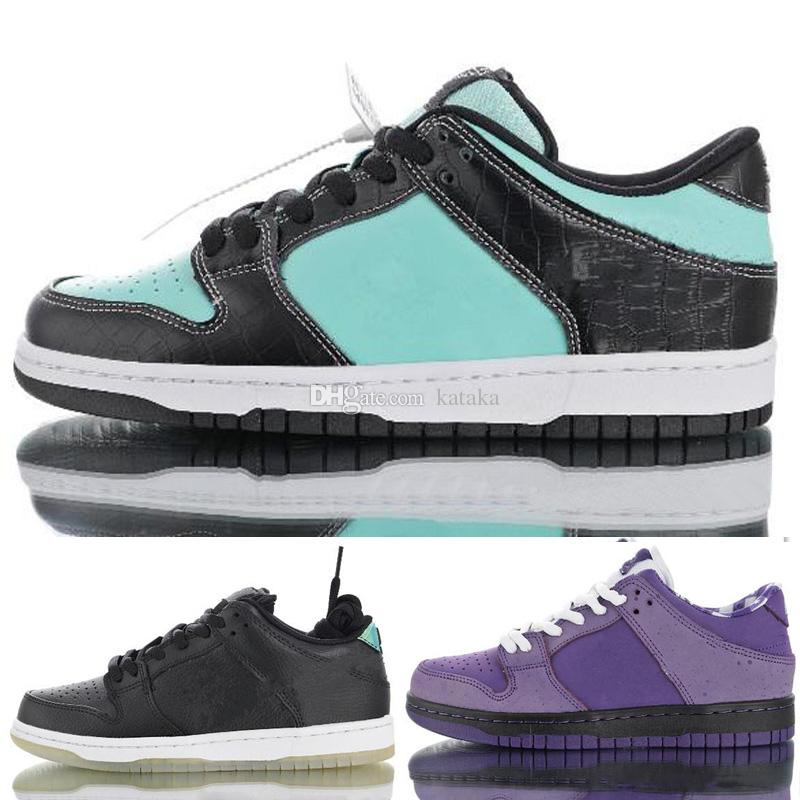 best service a4189 0c138 Acquista 2019 Concepts X SB Dunk Low Purple Lobster Pro Casco Moto Diamond  Supply Co. X Tiffany Scarpe Da Corsa Uomo Donna Sport Sneakers 36 45 A  62.04 Dal ...