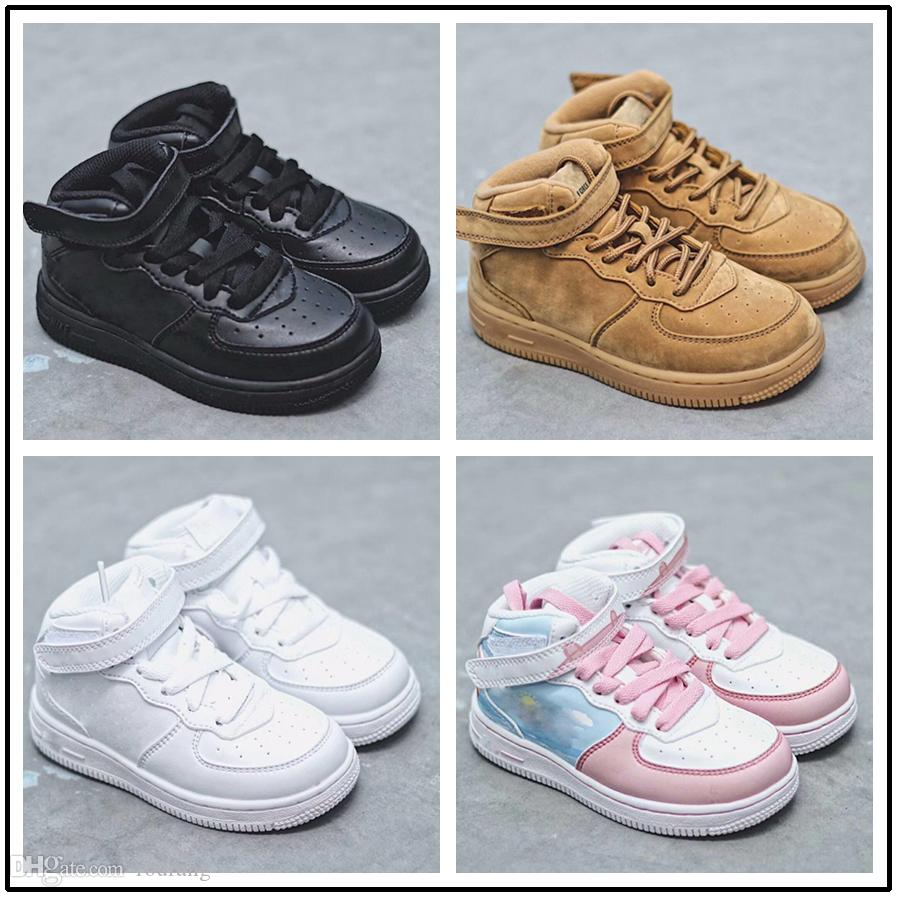 outlet store 2f75d 6f730 Compre 2018 Nike Air Force 1 One AF1 2019 Top Classic Boys Girls Low High 1  One Sports Sneakers Baby Kids Cojín De Aire Skate Athletic Shoes Chaussures  Pour ...