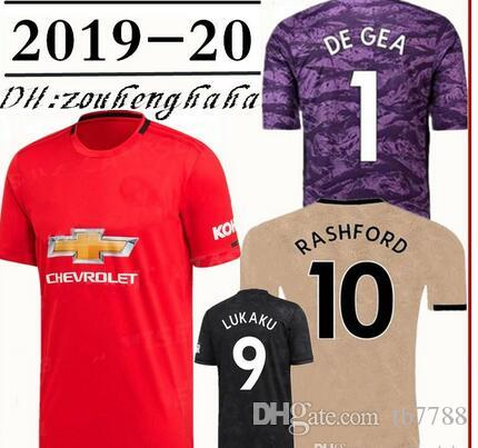 buy popular 8b439 7842a 2019 2020 Man Utd POGBA soccer jersey 19 20 Manchester home away 3rd  MARTIAL LINGARD MATIC SMALLING RASHFORD Lukaku United Football shirt