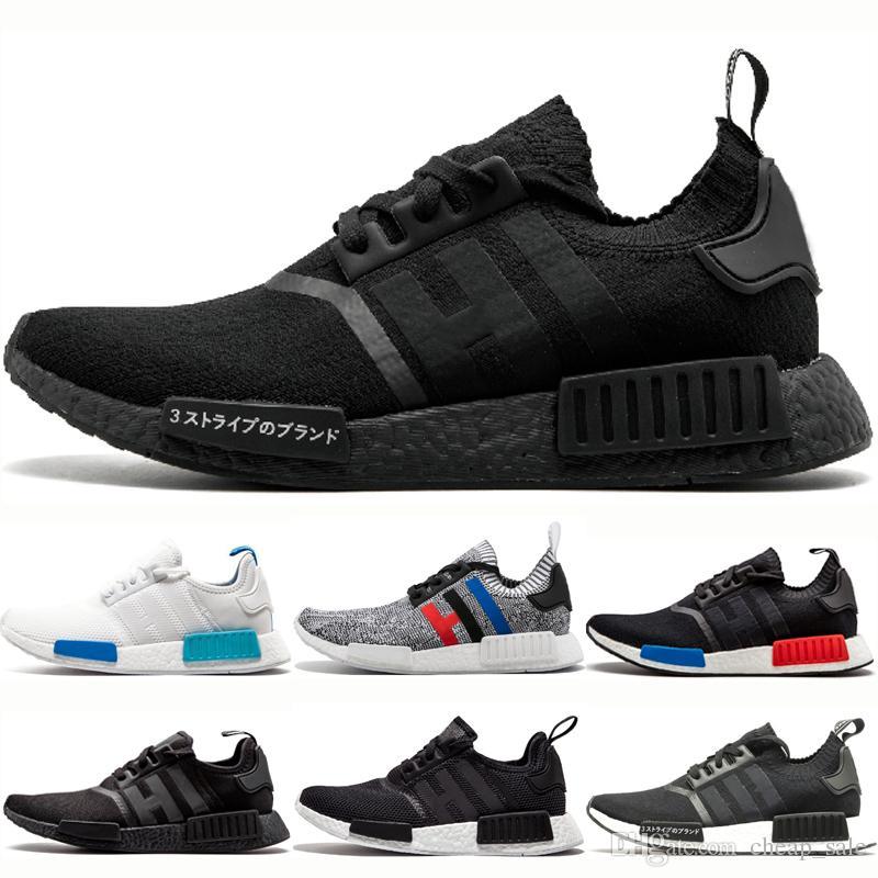 Adidas nmd R1 Mens Japonya Üçlü Siyah Beyaz R1 Primekint Kosu Ayakkabi Tasarimcisi erkek kadin OG siyah beyaz gri oreo Sneakers Spor Kosu