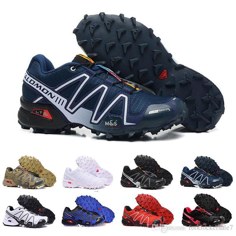 le dernier 768bc e5916 Designer Speedcross 3 CS III Running Shoes Mens Walking Ourdoor Zapatillas  Crosspeed 3 Speed cross Sport Sneakers Athletic Hiking