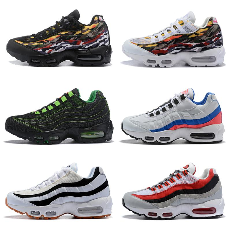 Cheap New Men Women Airlis Outdoor Shoes 95s Sneakers Designer Chaussures 95  Og Shoes White Black Blue Red for Cheap Sale 23a6ae336