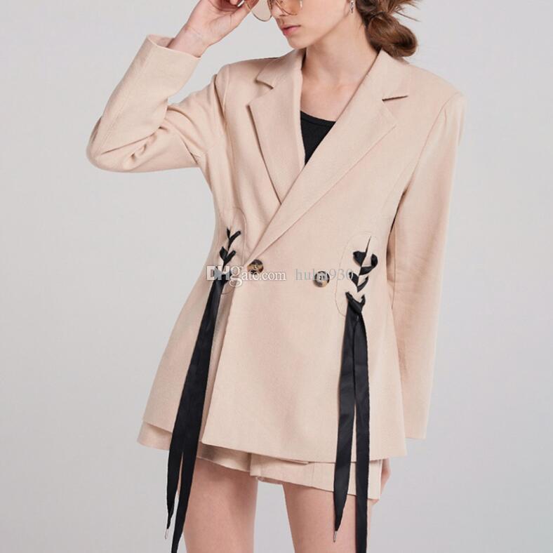 Humor 2018 Neue Frauen Anzüge Slim Fit Blazer Frühling Herbst Mantel Frauen Blazer Arbeitskleidung Weibliche Kleidung Anzüge & Sets