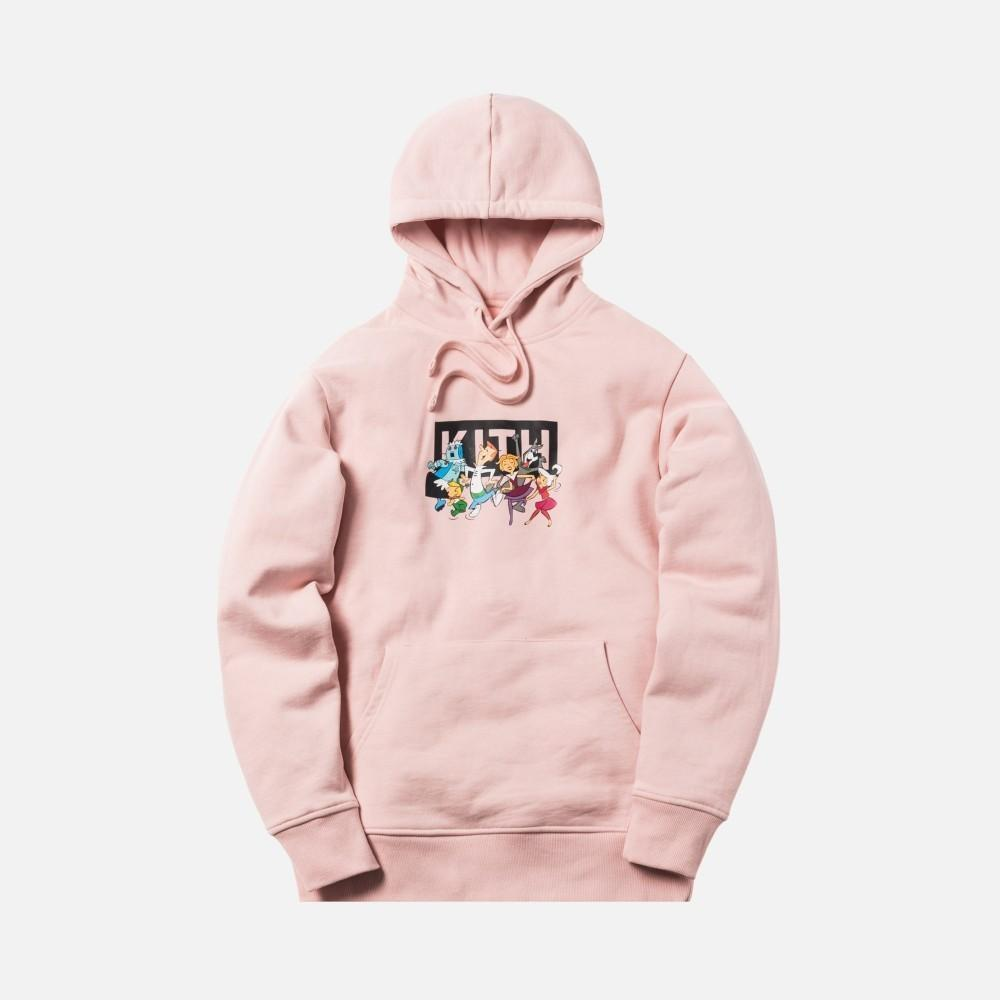 Kith 18fw Jetsons Family Hoodie Joint Classic Cartoon Hoodie Men Women Couple Round Neck Hooded Sweater Hfbywy190