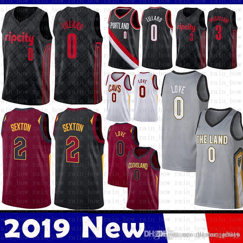 e5c26aa76504 2019 Kevin 0 Love Collin 2 Sexton Cleveland Jersey Cavaliers Portland Trail    Damian 0 Lillard CJ 3 McCollum Basketball Jerseys The CITY From  Tukameng2016