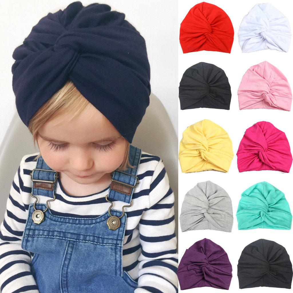 Toddler Newborn Infant Baby Turban Hat 2019 New Kids Boy Girl Cotton ... ef72aba3da13